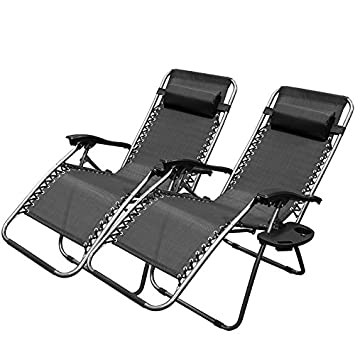 Nice XtremepowerUS Zero Gravity Adjustable Reclining Chair Pool Patio Outdoor  Lounge Chairs W/ Cup Holder