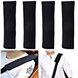 ilyever 4 Pack Universal Car Safety SeatBelt Shoulder Strap Pad Soft Headrest Neck Support Pillow Cover Cushion - No Slip - No Rubbing - A Must Have for All Car Owners for a More Comfortable Driving