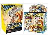 Pokémon TCG Sun & Moon Unbroken Bonds Booster Box + Build and Battle Box Prerelease Kit Pokémon Trading Card Game Bundle, 1 of Each