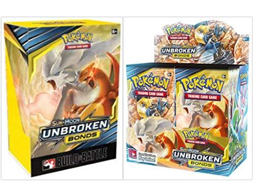 (Pokémon TCG Sun & Moon Unbroken Bonds Booster Box + Build and Battle Box Prerelease Kit Pokémon Trading Card Game Bundle, 1 of Each)