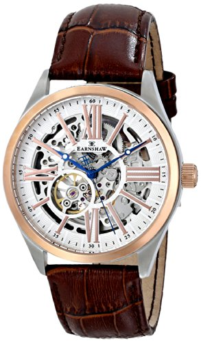 Thomas Earnshaw Men's ES-8037-04 Armagh Analog Display Automatic Self Wind Brown Watch