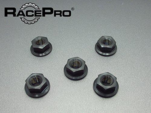 RacePro - Ducati Monster 900S ie - Dark 02+ -x5x Titanium Sprocket Nuts Black