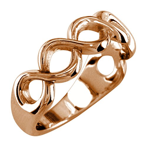 Infinity Ring Couple in 18k Rose Gold - size 9.5 by Sziro Infinity Rings