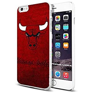NBA Basketball Chicago Bulls logo , , Cool iPhone 6 Plus (6+ , 5.5 Inch) Smartphone Case Cover Collector iphone TPU Rubber Case White [By PhoneAholic]