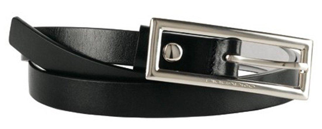 Cintura Piquadro donna sottile nero con fibbia ad artiglione CU2405C19/N