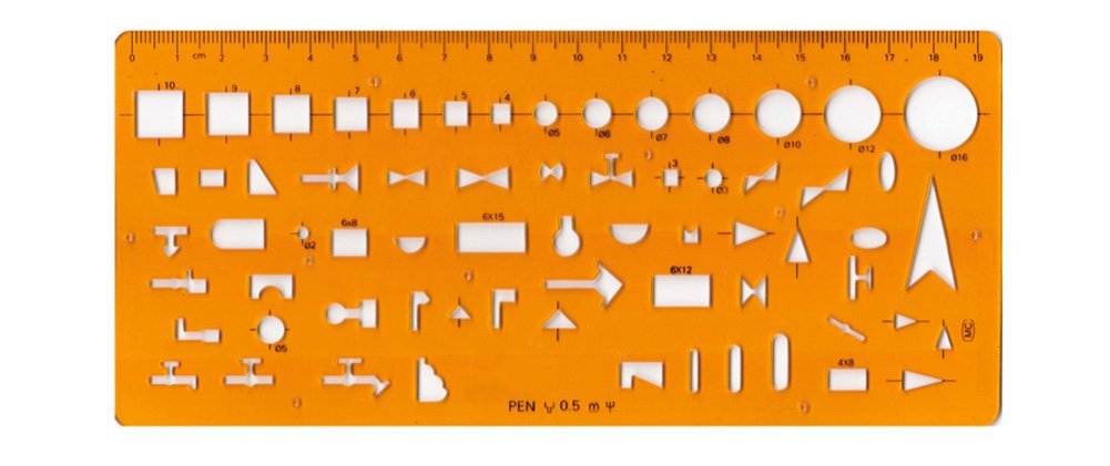 Isometric Piping Template, Drafting Tool - Drainage Template, Flexible Unbreakable Plastic UNI Gifts Shop 4336946803