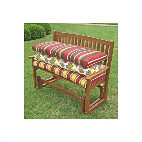 Blazing Needles Solid 4' Patio Bench/Swing Cushion - (2 Seater Bench Cushion)