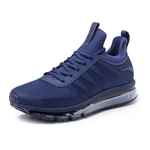 Onemix Mannen Lucht Loopschoenen Trainer Casual Wandelschoenen Gym Sportschoenen Rood Blauw