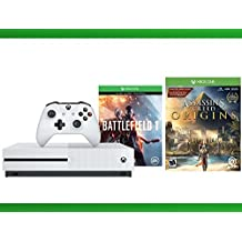 Xbox One S 500 GB Battlefield 1 Console + Assassin's Creed Origins + WWE 2K16 Bundle ( 3 - Items)