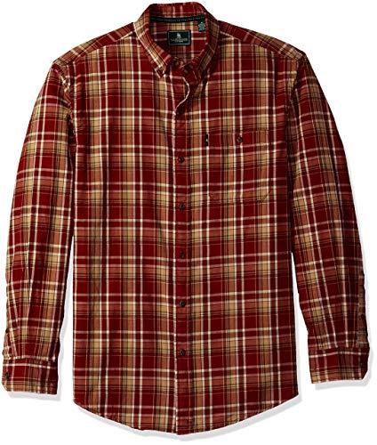 G.H. Bass & Co. Mens Plaid Flannel Button-Down Shirt Red 3XL