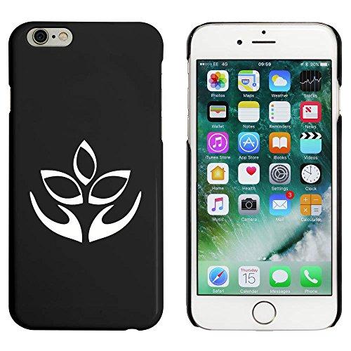 Noir 'Fleur de Lotus' étui / housse pour iPhone 6 & 6s (MC00087832)