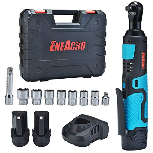 ENEACRO Cordless Electric Ratchet Wrench Set, 3/8