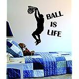 Ball is Life Version 2 Basketball Court Wall Decal Vinyl Art Sticker Sport Boy Girl Teen Baby NBA