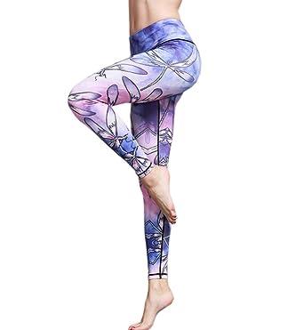 ECHERY Women Everyday Dancing Active Leggings Printed ...