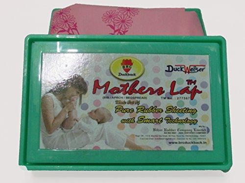 BRC Duckback Soft Rubber Sheet (Oil Cloth) Pink 90Cm X 90Cm (1 Pcs Box)