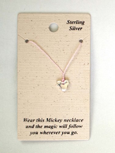 AUTHENTIC DISNEY MICKEY STERLING NECKLACE