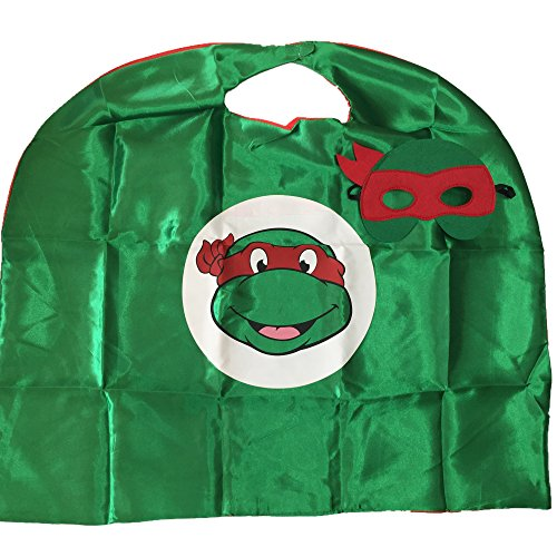 Starkma Kids Girl And Boy Superhero Tmnt Cape + mask Costume 07