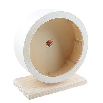 emours hámster Silencioso Spinner comodidad ejercicio rueda, de madera pequeño Animal jaula juguete: Amazon.es: Productos para mascotas