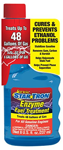 Star Tron Enzyme Fuel Treatment - Gas Formula 8 oz - Treats 48 Gallons