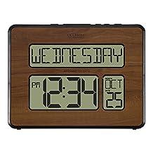 La Crosse Technology 513-1419-WA-INT Atomic Large Full Digital Calendar Clock
