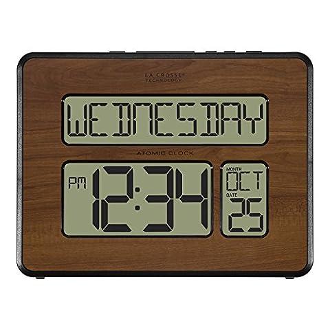 La Crosse Technology 513-1419-WA-INT Atomic Large Full Digital Calendar Clock (Kitchen Digital Clock)