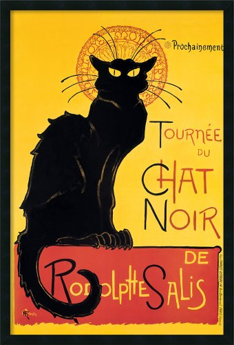 Framed Art Print, 'Tournee du Chat Noir (Yellow)'