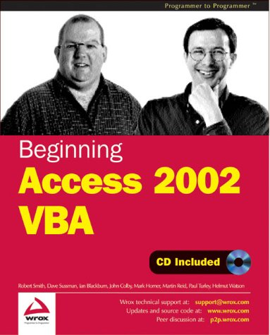 Beginning Access 2002 Vba by Wrox Pr Inc