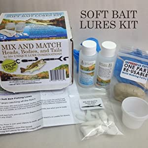 Make your own soft bait fishing lures kit for Fishing lure kits make your own