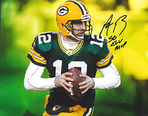 Aaron Rodgers Green Bay Packers Autographed Signed 8 x 10 Photo - COA - NM/MT - MT (Green Autographed Photo)