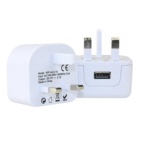 wonplug Cargador USB, 2100 mA/10,5 W, adaptador de corriente ...