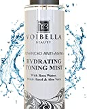 Organic Anti-Aging Hydrating Toner for Face - Rose Water, Witch Hazel & Aloe Vera Toning Facial Mist. Natural Skin Moisturizing Rosewater Spray for Women. Pure, Fresh, Alcohol Free & Pore Refining