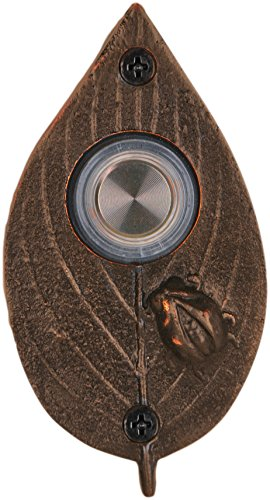 Waterwood Ladybug on Leaf Doorbell in Oil Rubbed Bronze