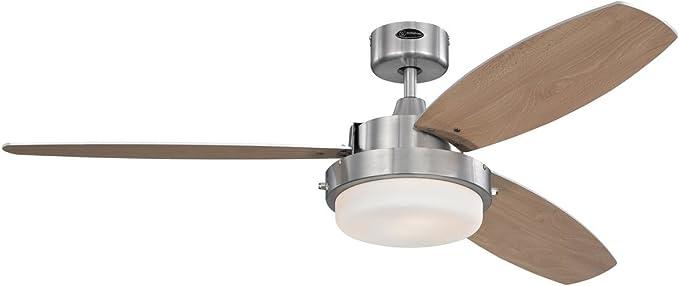 Westinghouse Lighting Alloy Ventilador de Techo E27, 55 W, Níquel ...