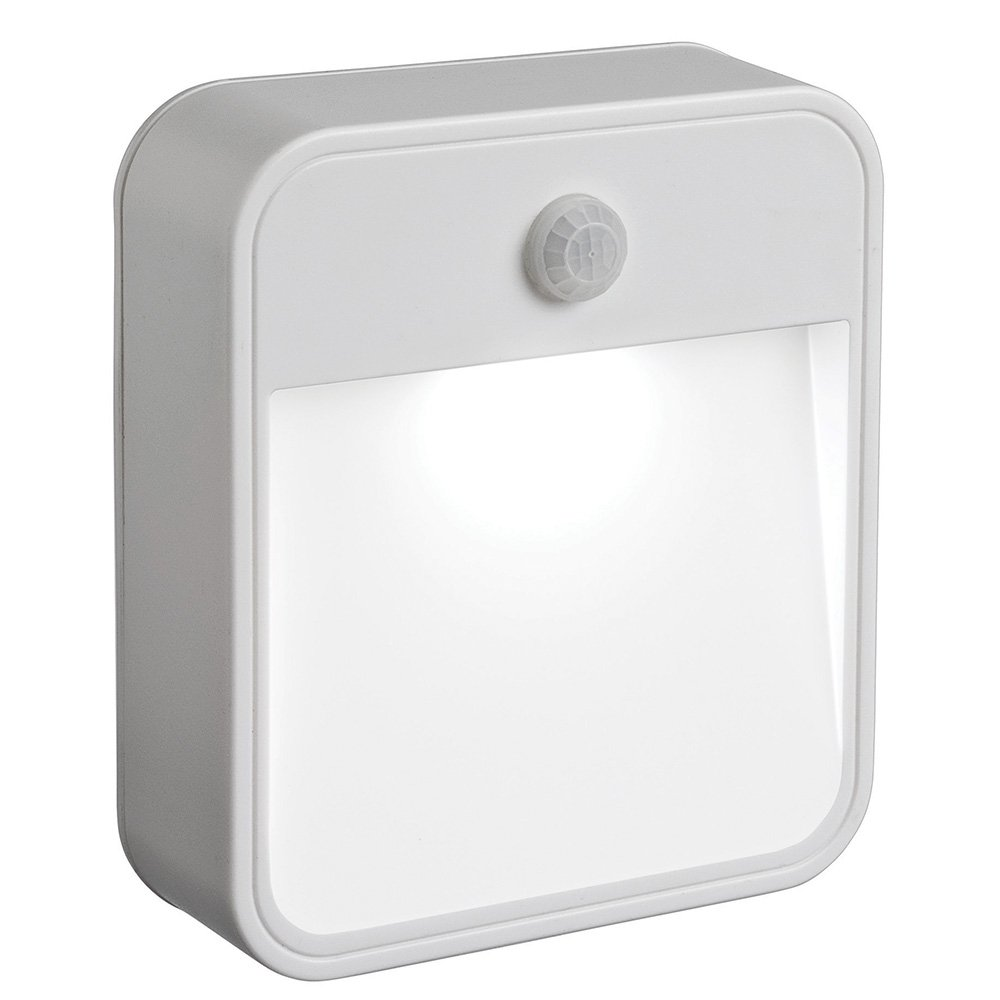 Mr. Beams MB722 Battery Powered Motion Sensing LED Stick Anywhere Night Light, White