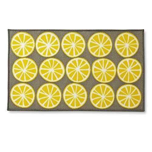 Allure Rectangular Kitchen Rug - Lemons