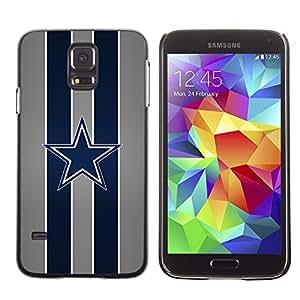 TaiTech / Prima Delgada SLIM Casa Carcasa Funda Case Bandera Cover Armor Shell PC / Aliminium - Dallas Cowboy Fútbol - Samsung Galaxy S5