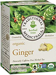 Traditional Medicinals Organic Ginger Tea, 16 Tea Bags