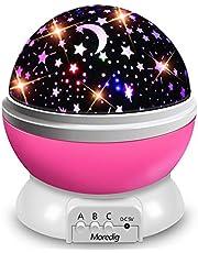 Moredig - lampada stelle proiettore, 360 Gradi Rotazione Proiettore Stelle con 8 Modalità Romantica Luce Notturna, Regalo per Neonati, Bambini, Adulti, Compleanno, Natale, Halloween ecc - Rosa