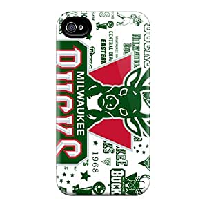 High Impact Dirt/shock Proof Case Cover For Iphone 4/4s (milwaukee Bucks)
