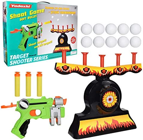 Amazon Com Hover Shot Floating Target Game Foam Dart Blasters Floating Target Set With 3 Foam Darts Blasters 10 Soft Floating Balls Target Practice Toys Best Gifts For Boys And Girls