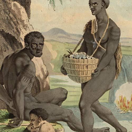 Van Diemen Land natives early Australia 1836 beautiful ethnic costume -