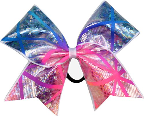 Sparkle Bows Cheer Shattered Glass Cheer Bow (Pacific Sunset)