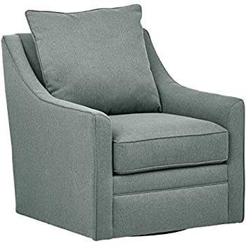 Amazon Com Madison Park Harris Swivel Chair Grey See
