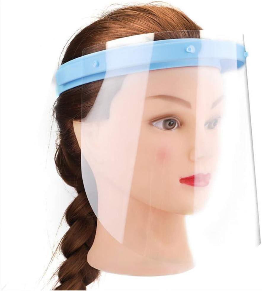 Visera Protectora de Seguridad, máscara Protectora contra Salpicaduras Transparentes antivaho y antiniebla, con 10 Viseras Desmontables, para cocinar enfermería Dental