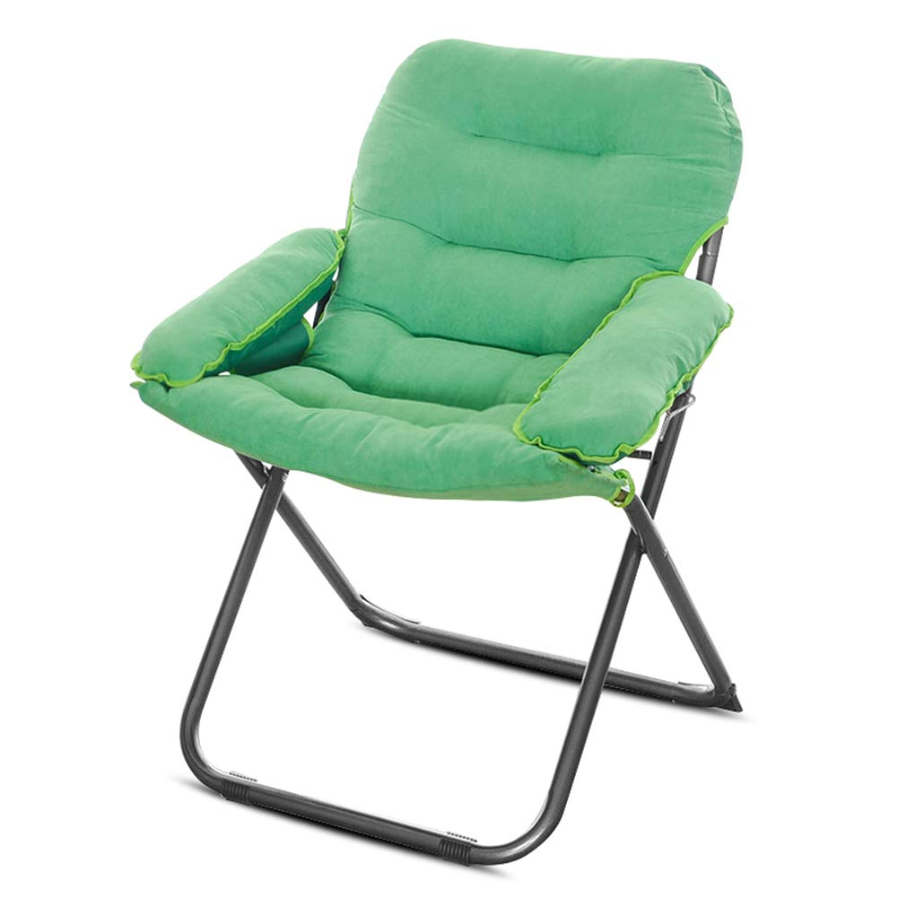 Bodenstuhl, Klappbarer gepolsterter Liegestuhl, verstellbar Relax Lazy Chair Camping Angelliege (3 Farben optional) (Farbe   Emerald)