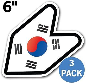 South Korea Flag Vinyl Decal Bumper Sticker 2-Pack Car Truck Van Laptop Window