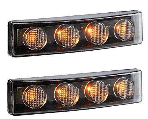 2/x LED cabina tetto anteriore Sun Visior arancione luci per Scania serie P R T g 24/V OEM 1910437/1798980