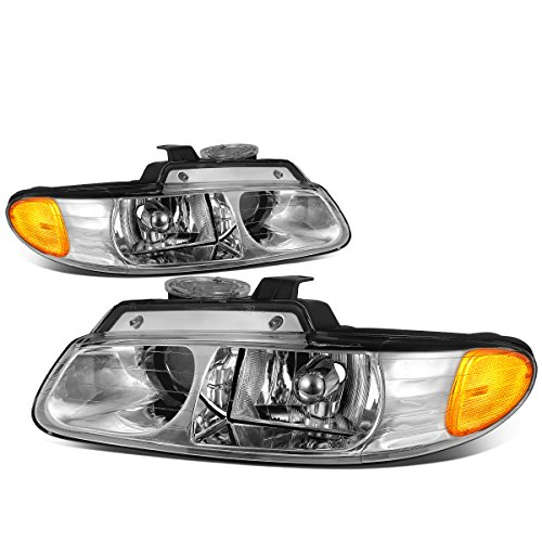 For Grand Caravan/Chrysler Town&Country Chrome Housing Amber Corner Projector Headlights