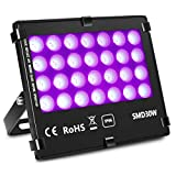 KINGBO UV LED Blacklights High Power 30W UV LED Flood Light for DJ Disco Club,Night Clubs,UV Light Glow Bar,Birthday Parties,Blacklight Party,Aquariums and Other Entertainment Venues Stage Lighting