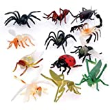 "US Toy - Assorted Mini Insect Bug Figures, Lot of 12, 2"", Plastic"